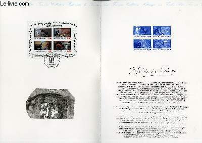 DOCUMENT PHILATELIQUE OFFICIEL - 1� SIECLE DU CINEMA (N�BF 17 YVERT ET TELLIER)