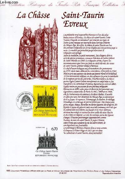 DOCUMENT PHILATELIQUE OFFICIEL - LA CHASSE SAINT-TAURIN EVREUX (N�2926 YVERT ET TELLIER)
