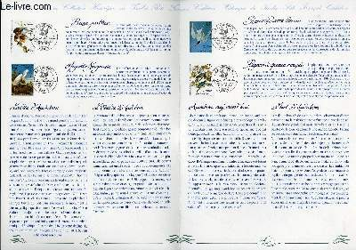 DOCUMENT PHILATELIQUE OFFICIEL - SERIE ARTS DECORATIFS : LES OISEAUX DE J.J. AUDUCHON (N°BF 18 YVERT ET TELLIER)