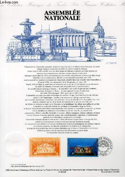 DOCUMENT PHILATELIQUE OFFICIEL - ASSEMBLEE NATIONALE (N°2945 YVERT ET TELLIER)