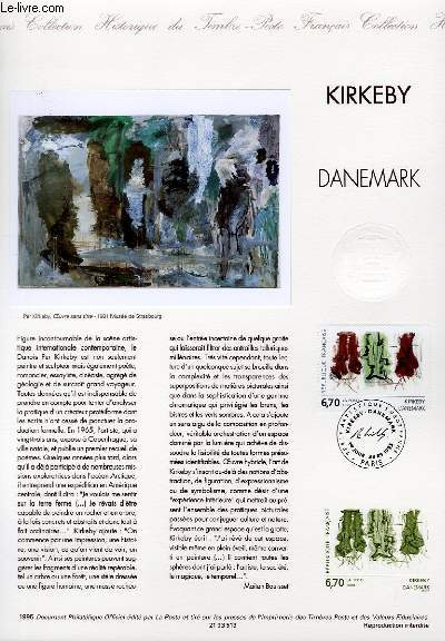 DOCUMENT PHILATELIQUE OFFICIEL - KIRKEBY - DANEMARK (N�2969 YVERT ET TELLIER)
