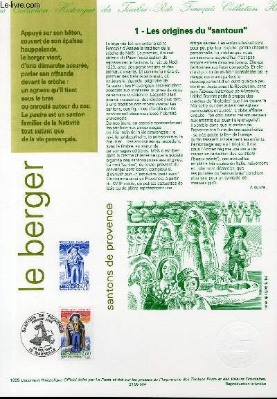 DOCUMENT PHILATELIQUE OFFICIEL - SANTONS DE PROVENCE - LE BERGER (N°2976 YVERT ET TELLIER)