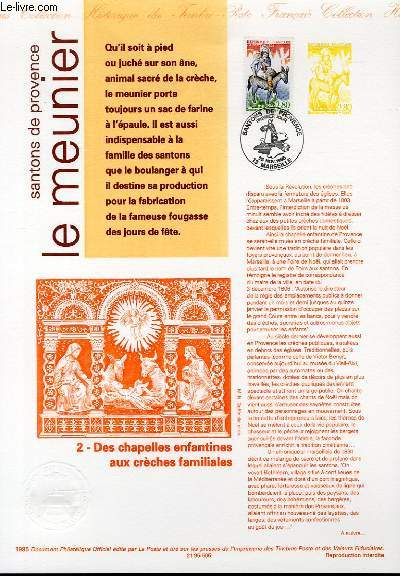 DOCUMENT PHILATELIQUE OFFICIEL - SANTONS DE PROVENCE - LE MEUNIER (N°2977 YVERT ET TELLIER)