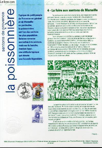 DOCUMENT PHILATELIQUE OFFICIEL - SANTONS DE PROVENCE - LA POISSONNIERE (N°2979 YVERT ET TELLIER)