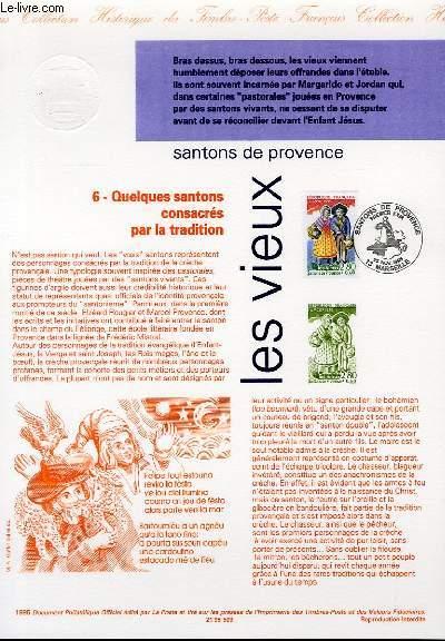 DOCUMENT PHILATELIQUE OFFICIEL - SANTONS DE PROVENCE - LES VIEUX (N°2981 YVERT ET TELLIER)