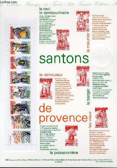DOCUMENT PHILATELIQUE OFFICIEL - SANTONS DE PROVENCE - CARNET (N�2982 YVERT ET TELLIER)