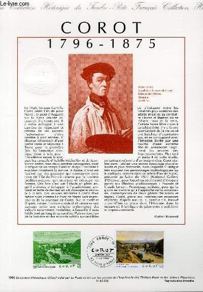 DOCUMENT PHILATELIQUE OFFICIEL - SERIE ARTISTIQUE : NARNI, LE PONT D'AUGUSTE SUR LA NERA COROT 1796-1875 (N°2989 YVERT ET TELLIER)