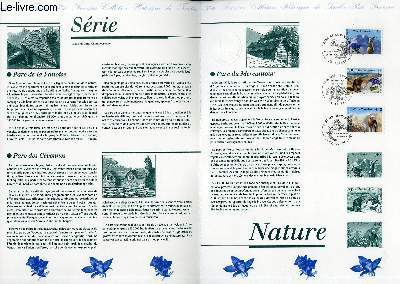 DOCUMENT PHILATELIQUE OFFICIEL - PARCS NATIONAUX DE -FRANCE (N°2997-2999 YVERT ET TELLIER)
