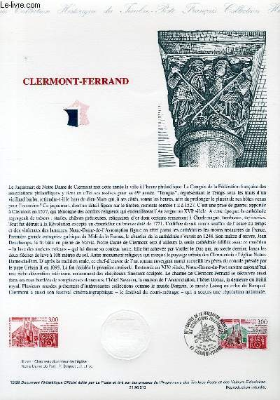 DOCUMENT PHILATELIQUE OFFICIEL - CLERMONT-FERRAND (N°3004 YVERT ET TELLIER)