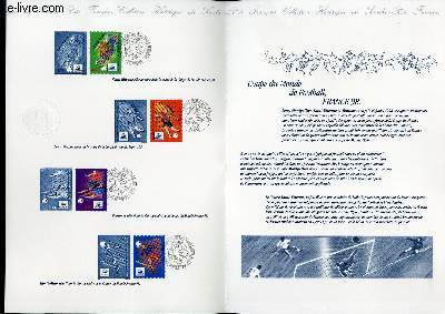 DOCUMENT PHILATELIQUE OFFICIEL - COUPE DU MONDE DE FOOTBALL FRANCE 98 (N�3010-3013 YVERT ET TELLIER)