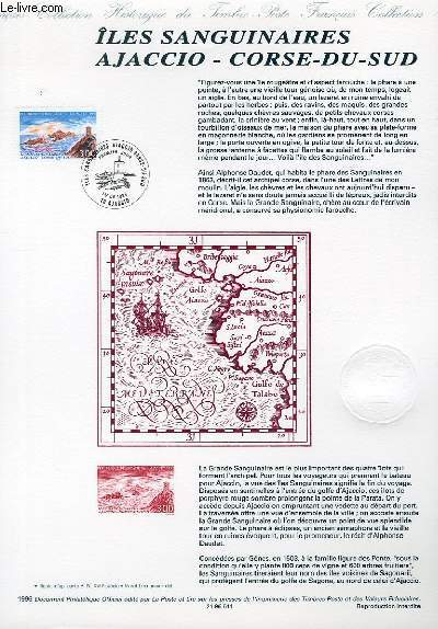 DOCUMENT PHILATELIQUE OFFICIEL - ILES SANGUINAIRES AJACCIO - CORSE DU SUD (N�3019 YVERT ET TELLIER)