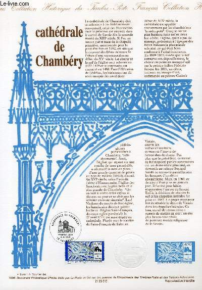 DOCUMENT PHILATELIQUE OFFICIEL - CATHEDRALE DE CHAMBERY (N°3021 YVERT ET TELLIER)