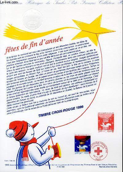 DOCUMENT PHILATELIQUE OFFICIEL - CROIX ROUGE - FETES DE FIN D'ANNEE (N�3039 YVERT ET TELLIER)