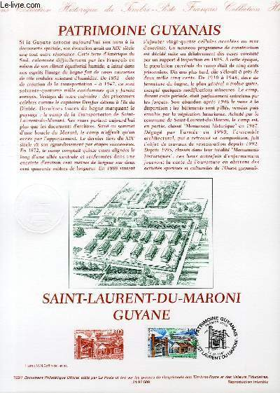 DOCUMENT PHILATELIQUE OFFICIEL - PATRIMOINE GUYANAIS - SAINT-LAURENT DU MARONI GUYANE (N�3048 YVERT ET TELLIER)