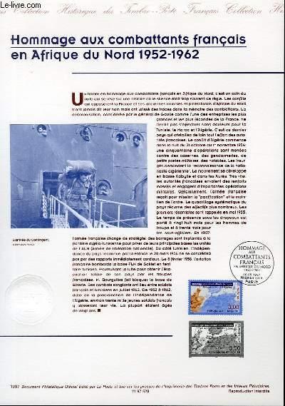DOCUMENT PHILATELIQUE OFFICIEL - HOMMAGE AUX COMBATTANTS FRANCAIS EN AFRIQUE DU NORD 1952-1962 (N°3072 YVERT ET TELLIER)