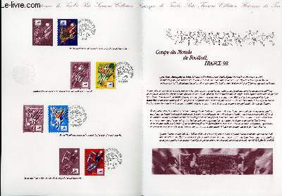 DOCUMENT PHILATELIQUE OFFICIEL - COUPE DU MONDE DE FOOTBALL 1998 (N°3074-3077 YVERT ET TELLIER)