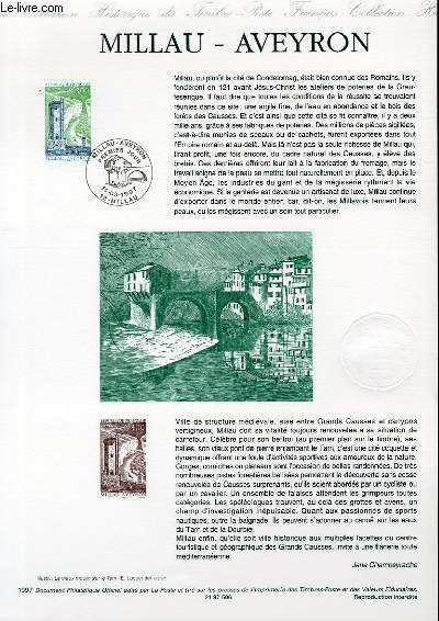 DOCUMENT PHILATELIQUE OFFICIEL - MILLAU - AVEYRON (N°3079 YVERT ET TELLIER)