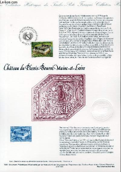 DOCUMENT PHILATELIQUE OFFICIEL - CHATEAU DU PLESSIS-BOURE MAINE ET LOIRE (N°3081 YVERT ET TELLIER)