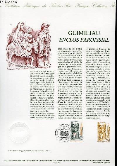 DOCUMENT PHILATELIQUE OFFICIEL - GUIMILIAU ENCLOS PAROISSIAL (N°3078 YVERT ET TELLIER)