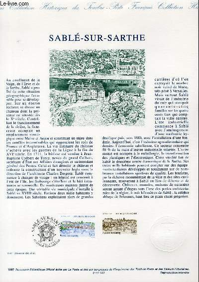 DOCUMENT PHILATELIQUE OFFICIEL - SABLE SUR SARTHE (N°3107 YVERT ET TELLIER)