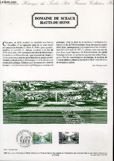 DOCUMENT PHILATELIQUE OFFICIEL - DOMAINE DE SCEAUX HAUTS DE SEINE (N°3109 YVERT ET TELLIER)