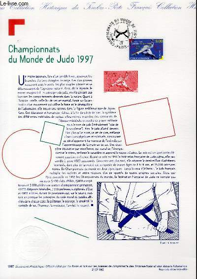 DOCUMENT PHILATELIQUE OFFICIEL - CHAMPIOONATS DU MONDE DE JUDO 1997 (N°3111 YVERT ET TELLIER)