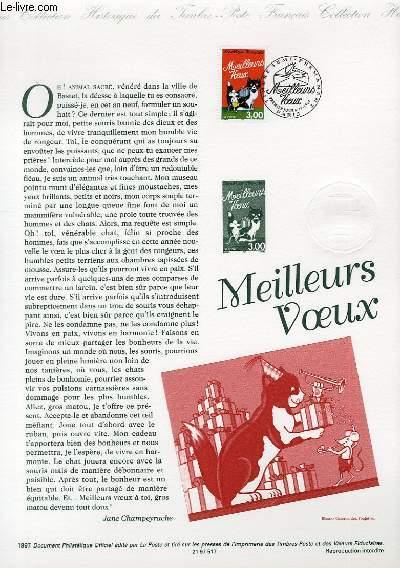 DOCUMENT PHILATELIQUE OFFICIEL - MEILLEURS VOEUX (N�3123 YVERT ET TELLIER)