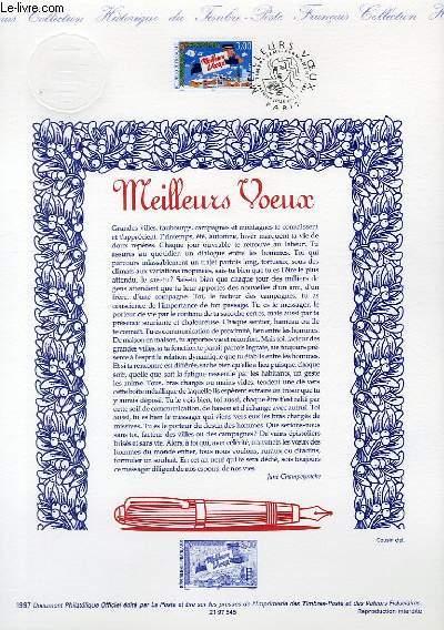 DOCUMENT PHILATELIQUE OFFICIEL - MEILLEURS VOEUX (N°3125 YVERT ET TELLIER)