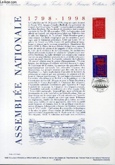 DOCUMENT PHILATELIQUE OFFICIEL - ASSEMBLEE NATIONALE 1798-1998 (3132 YVERT ET TELLIER)