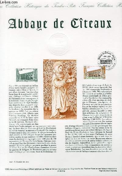 DOCUMENT PHILATELIQUE OFFICIEL - ABBAYE DE CITEAUX (N°3143 YVERT ET TELLIER)