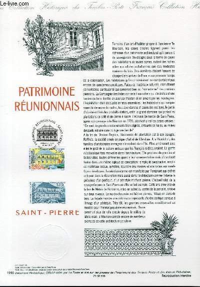 DOCUMENT PHILATELIQUE OFFICIEL - PATRIMOINE REUNIONNAIS SAINT PIERRE (N°314 YVERT ET TELLIER)