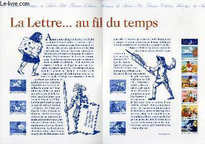 DOCUMENT PHILATELIQUE OFFICIEL - LA LETTRE AU FIL DU TEMPS (N°3150-3155 YVERT ET TELLIER)