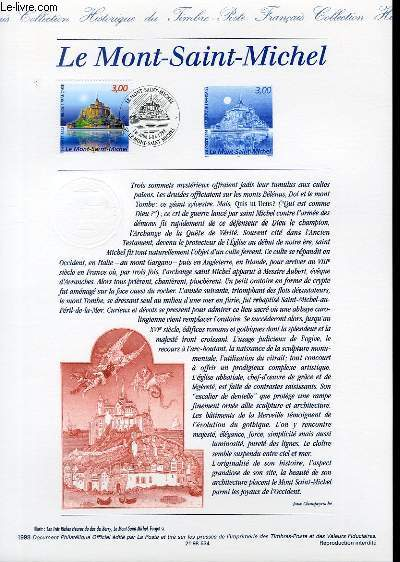 DOCUMENT PHILATELIQUE OFFICIEL - LE MONT SAINT MICHEL (N�3165 YVERT ET TELLIER)
