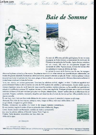 DOCUMENT PHILATELIQUE OFFICIEL - BAIE DE SOMME (N°3168 YVERT ET TELLIER)