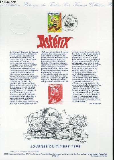 DOCUMENT PHILATELIQUE OFFICIEL - JOURNEE DU TIMBRE - ASTERIX (N°3225 YVERT ET TELLIER)