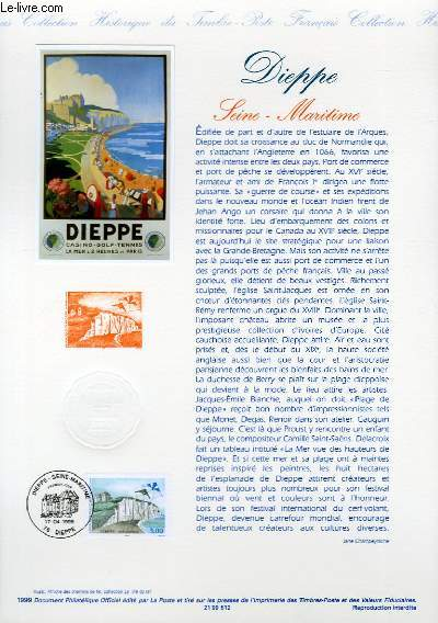 DOCUMENT PHILATELIQUE OFFICIEL - DIEPPE - SEINE MARITIME (N°3239 YVERT ET TELLIER)