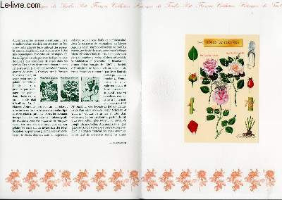 DOCUMENT PHILATELIQUE OFFICIEL - ROSES ANCIENNES (N�BF 24 YVERT ET TELLIER)
