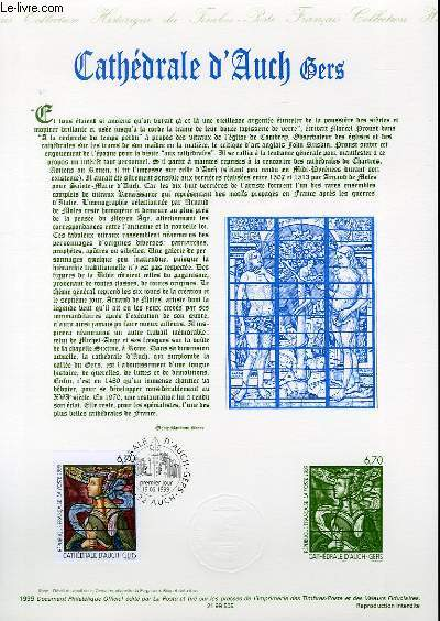 DOCUMENT PHILATELIQUE OFFICIEL - CATHEDRALE D'AUCH GERS (N°3254 YVERT ET TELLIER)