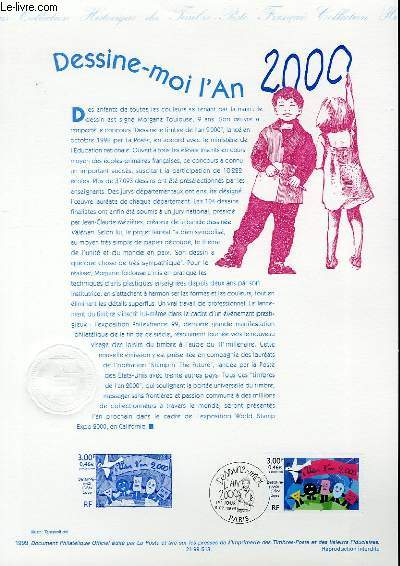 DOCUMENT PHILATELIQUE OFFICIEL - DESSINE-MOI L'AN 2000 (N°3260 YVERT ET TELLIER)