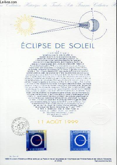 DOCUMENT PHILATELIQUE OFFICIEL - ECLIPSE DE SOLEIL (N�3261 YVERT ET TELLIER)