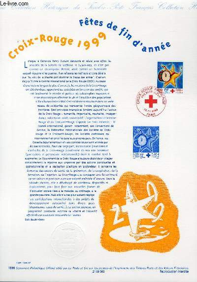 DOCUMENT PHILATELIQUE OFFICIEL - CROIX ROUGE - FETES DE FIN D'ANNEE (N°3288 YVERT ET TELLIER)