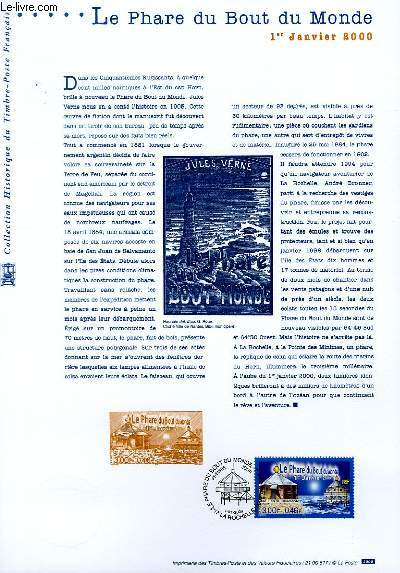 DOCUMENT PHILATELIQUE OFFICIEL - LE PHARE DU BOUT DU MONDE (N°3294 YVERT ET TELLIER)