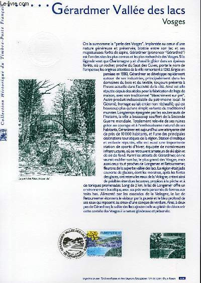 DOCUMENT PHILATELIQUE OFFICIEL - GERARDMER VALLEE DES LACS - VOSGES (N°3311 YVERT ET TELLIER)
