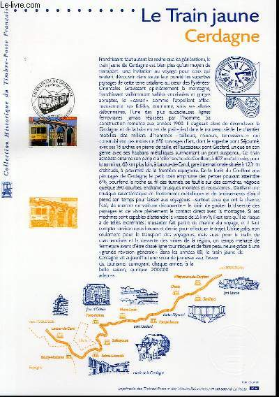 DOCUMENT PHILATELIQUE OFFICIEL - LE TRAIN JAUNE CERDAGNE (N�3338 YVERT ET TELLIER)