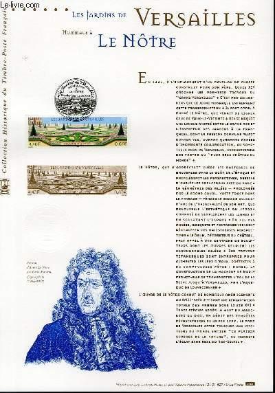 DOCUMENT PHILATELIQUE OFFICIEL - LES JARDINS DE VERSAILLES - HOMMAGE A LE NOTRE (N°3389 YVERT ET TELLIER)