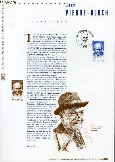 DOCUMENT PHILATELIQUE OFFICIEL - JEAN PIERRE BLOCH 1905-1999 (N°3434 YVERT ET TELLIER)