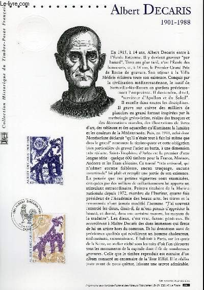 DOCUMENT PHILATELIQUE OFFICIEL - ALBERT DECARIS 1901-1988 (N°3435 YVERT ET TELLIER)