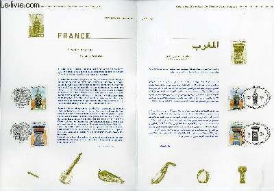 DOCUMENT PHILATELIQUE OFFICIEL - FRANCE-MAROX - PATRIMOINE CULTUREL (N°3441-3442 YVERT ET TELLIER)
