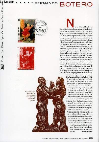 DOCUMENT PHILATELIQUE OFFICIEL - FERNANDO BOTERO - LES DANSEURS (N°3482 YVERT ET TELLIER)