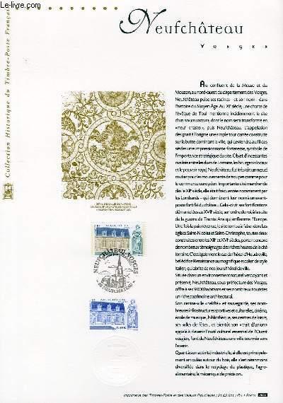 DOCUMENT PHILATELIQUE OFFICIEL - NEUFCHATEAU - VOSGES (N°3525 YVERT ET TELLIER)